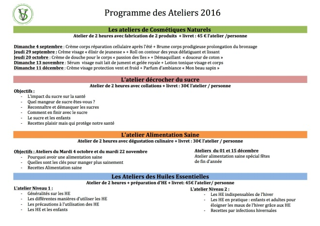 calendrier ateliers sept-dec 2  2016