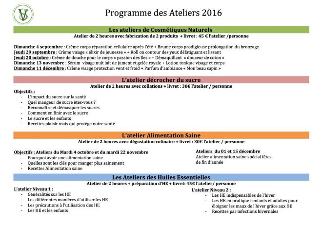 calendrier ateliers sept-dec 2  2016