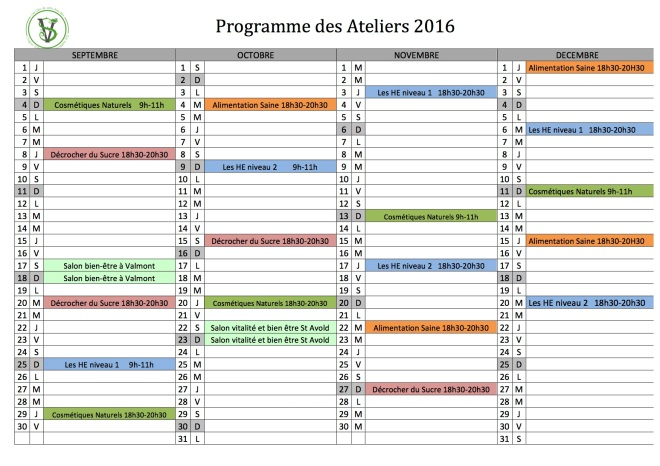calendrier ateliers sept-dec 2016